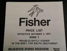 Fisher Price List Brochure Original 1971 Rare VHTF Radio Long NY All  Products