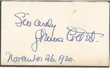 Glenna Collett Vare Cut Signature Full JSA Letter of Authenticity - Golf LPGA