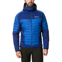 Berghaus Mens Ulvetanna Hybrid 2.0 Down Jacket Top Blue Sports Outdoors Full Zip