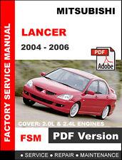 MITSUBISHI LANCER 2004 - 2006 FACTORY OEM SERVICE REPAIR WORKSHOP FSM MANUAL