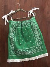 NEW!!  Handmade Green Bandana Dress For Kids or Small Women's Top