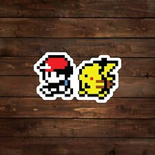 8-Bit Trainer with Pikachu (Pokemon) Decal/Sticker