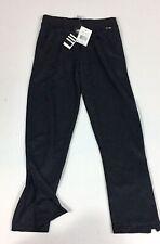 Adidas Climate Sweats 100% Polyester Black W/white Medium Pants