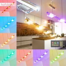 LED RGB Farbwechsler Pendell Hänge Leuchten Ess Wohn Zimmer Lampen Fernbedienung