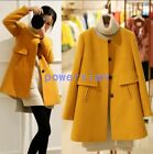 Womens Trench Long Coats Spring Jacket Slim Fit Fashion Wool Blend Outwear AU