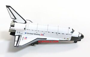 NASA Space Shuttle Atlantis 1/300 Diecast Model with Stand