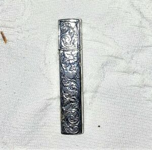 ANTIQUE STERLING SILVER NEEDLE CASE
