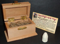 Civil War Bullet with Display Chest! Battle of Appomattox Court House, VA 1865!
