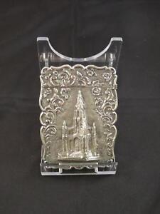 Antique Victorian Silver Castle-Top Card Case,Birmingham,Frederick Matthews,1845