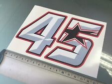 Scott Redding Number 45 Sticker / Decal - 150mm x 90mm NEW!! BSB (Design #2)