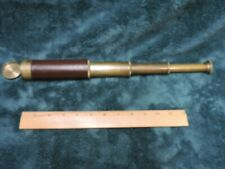 Vintage Brass Nautical Leather Wrapped Telescope