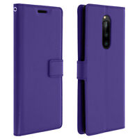 Vintage Series, flip wallet case for Sony Xperia 1 - Purple
