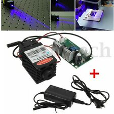Focusable High Power 2000mW 445nm 450nm Blue Laser Diode Module TTL Engraver New