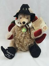 Hermann Mohair Thanksgiving Bear Ny Thanksgiving Parade Limited Edition 27/500