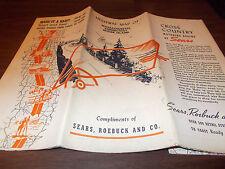 1930s Sears Massachusetts/Connecticut/Rhode Island Vintage Road Map