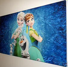 DISNEY FROZEN CANVAS PRINT WALL ART PICTURE   18 X 32 INCH
