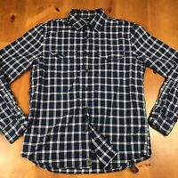 Banana Republic Luxe Flannel Slim Fit Men's Button Front Shirt Size Medium EUC