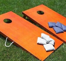 Cornhole Game Set Rosewood Boards 8 Bean Bags Toss Tailgate Regulation (2daySH)