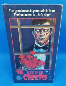 Night of the Creeps (1986) - FACTORY SEALED VHS - RARE HORROR - HBO CANNON VIDEO