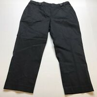 Loft Curvy Fit Black Cropped Capri Pants Size 10 New A656