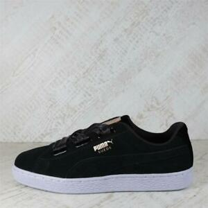 Womens Puma Suede Heart VR Black/Blue/Rose Gold Trainers (PFP1) RRP £59.99