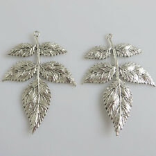 3 Pcs Tibetan Silver Jewellery Making Finding Large Branch Leaf Charms Pendant