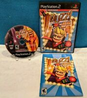 Buzz The Mega Quiz (Sony PlayStation 2, 2007) with Manual - Tested & Working