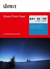 60 Sheets A3 Plus A3+ 260Gsm High Glossy Photo Paper Inkjet Paper Printer Uinkit