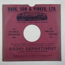 "10"" 78rpm gramophone record sleeve DUCK SON & PINKER LTD bath"