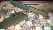 Gear2Survive Bush Craft Knife OD Green Texture