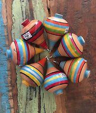 Classic Mexican Wooden Toy Trompo Classic Folklore Juguetes Del Recuerdo