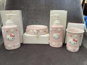 Hello Kitty Vintage Bathroom Glassware Set. (1996)