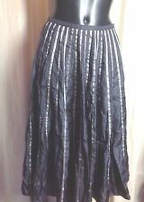 PHASE EIGHT ~ STEEL GREY 100% SILK SKIRT - SIZE 8, CHRISTMAS PARTIES!!