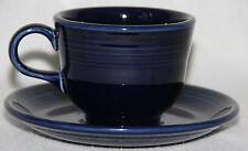 Fiesta Festaware - Standard 0452 Teacup and 0470 Saucer  -  Cobalt Blue