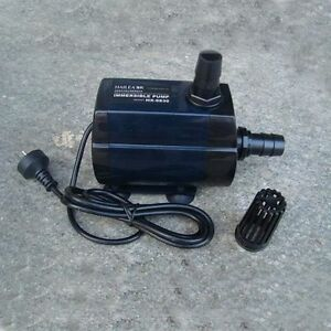 Hydroponics / fish tank pond fountain inline / immersible powerful water pump