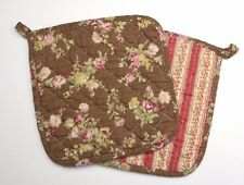 Set of 2 Great Finds BROWNIE Floral Quilted Cotton Pot Holders