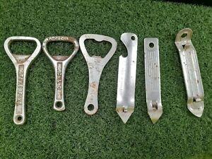 6 x Vintage Iron Metal Bottle Openers -