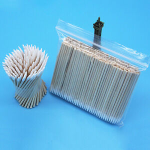 300x Makeup Tattoos Cotton Swabs Wooden Jewelry Clean Sticks Buds Single Tips AU