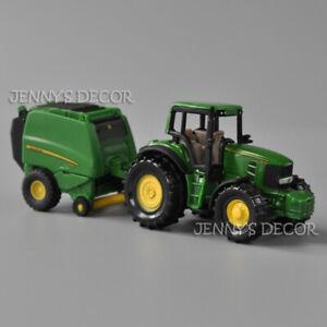 SIKU 1665 Diecast 1:87 Scale John Deere Tractor With Baler Vehicle Model Toy