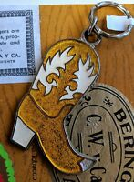 Cowboy Boot Western Keychain Key Fob