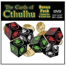 The Cards of Cthulhu, Bonus Pack, New! (7 Custom Dice + 10 Custom Coins)