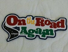 ON THE ROAD AGAIN Travel DIe Cut Title Scrapbook Page Paper Piece - SSFFDeb