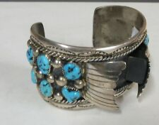 Vintage Moore Reeder Navajo Sterling Silver And Turquoise Men's Watch