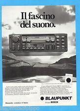 QUATTROR982-PUBBLICITA'/ADVERTISING-1982- BLAUPUNKT AUTORADIO TORONTO SQR 32