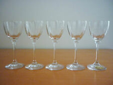 SET OF 5 BEAUTIFUL INN CRYSTAL SHERRY PORT GLASSES