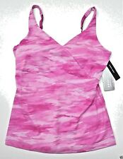 ~Under Armour top Studio Lux Pink cool stretch fitted XS L M $60 padded cups~