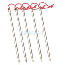 5pc Titanium alloy Tent Pegs Outdoor Nail Stakes & Rope Camping Survival Kit