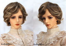 "1/3 bjd 8-9"" mohair short doll wig 2 color mixed Iplehouse dollfie luts W-177L"