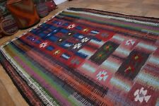 nr 17 Handgewebter VINTAGE Teppich KURDISTAN NOMADEN KILIM KELIM ca 280 x 154