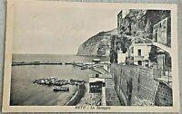 antica cartolina  META - LA SPIAGGIA ,viaggiata 1945  Sorrento